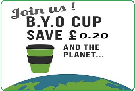 Bring Your Own reusable cup