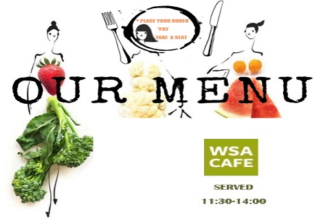 New WSA Cafe menu